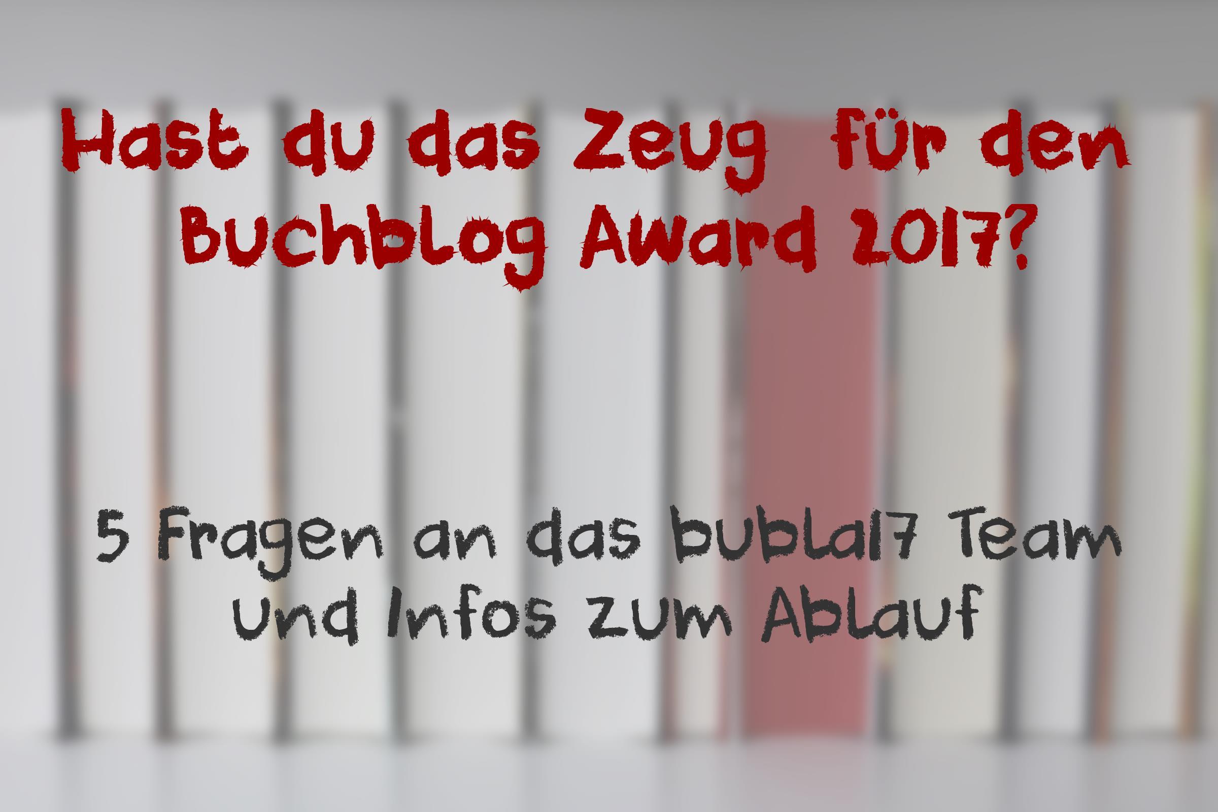 Buchblog Award 2017